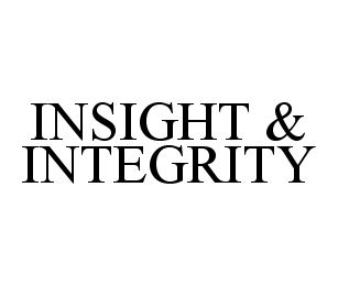 mark for INSIGHT & INTEGRITY, trademark #78383567