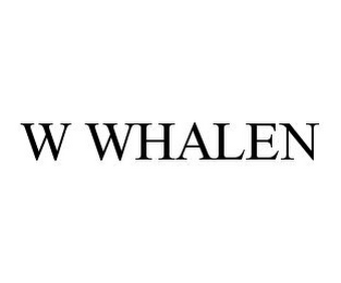 mark for W WHALEN, trademark #78384290