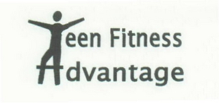 mark for TEEN FITNESS ADVANTAGE, trademark #78386584