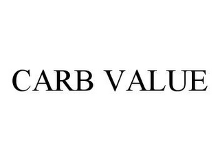 mark for CARB VALUE, trademark #78387061
