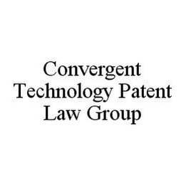 mark for CONVERGENT TECHNOLOGY PATENT LAW GROUP, trademark #78388127