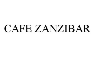 mark for CAFE ZANZIBAR, trademark #78389014