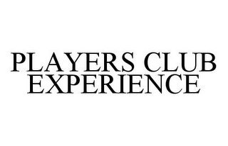 mark for PLAYERS CLUB EXPERIENCE, trademark #78390029