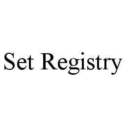 mark for SET REGISTRY, trademark #78396197