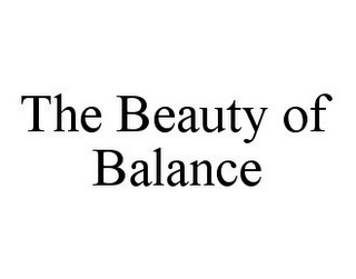 mark for THE BEAUTY OF BALANCE, trademark #78396701