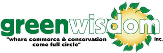 "mark for GREEN WISDOM INC. ""WHERE COMMERCE & CONSERVATION COME FULL CIRCLE"", trademark #78407427"