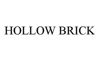 mark for HOLLOW BRICK, trademark #78407485