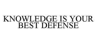 mark for KNOWLEDGE IS YOUR BEST DEFENSE, trademark #78412883