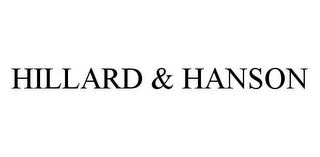 mark for HILLARD & HANSON, trademark #78420495