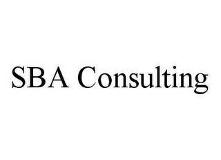 mark for SBA CONSULTING, trademark #78420583