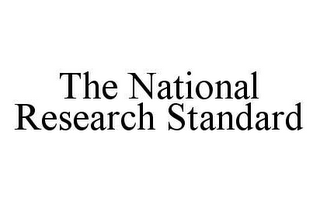 mark for THE NATIONAL RESEARCH STANDARD, trademark #78423680