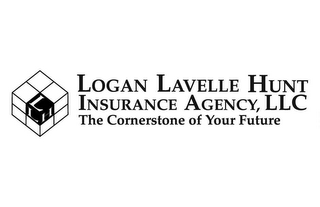 mark for LOGAN LAVELLE HUNT INSURANCE AGENCY, LLC THE CORNERSTONE OF YOUR FUTURE, trademark #78424050