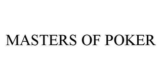 mark for MASTERS OF POKER, trademark #78431385