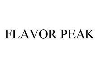 mark for FLAVOR PEAK, trademark #78433977