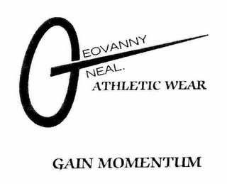 mark for GEOVANNYONEAL. ATHLETIC WEAR GAIN MOMENTUM, trademark #78436395