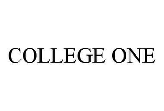 mark for COLLEGE ONE, trademark #78436832