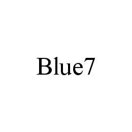 mark for BLUE7, trademark #78437451