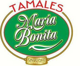 mark for TAMALES MARIA BONITA SINCE 1969, trademark #78439523