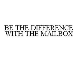 mark for BE THE DIFFERENCE WITH THE MAILBOX, trademark #78443540
