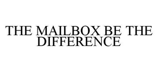 mark for THE MAILBOX BE THE DIFFERENCE, trademark #78443542