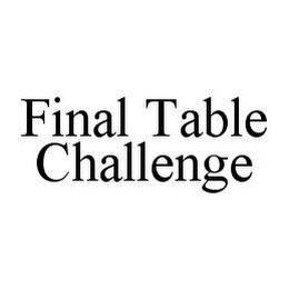 mark for FINAL TABLE CHALLENGE, trademark #78444775