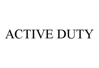mark for ACTIVE DUTY, trademark #78449998