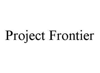 mark for PROJECT FRONTIER, trademark #78450617