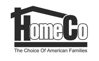 mark for HOMECO THE CHOICE OF AMERICAN FAMILIES, trademark #78450755