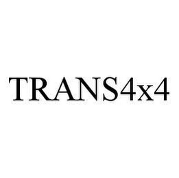 mark for TRANS4X4, trademark #78451175