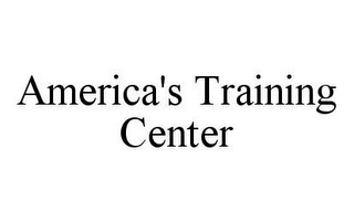 mark for AMERICA'S TRAINING CENTER, trademark #78451823