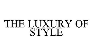 mark for THE LUXURY OF STYLE, trademark #78454097