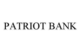 mark for PATRIOT BANK, trademark #78454907