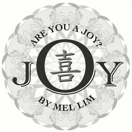 mark for JOY BY MEL LIM ARE YOU A JOY?, trademark #78455227