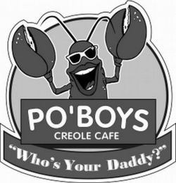 "mark for PO'BOYS CREOLE CAFE ""WHO'S YOUR DADDY?"", trademark #78455798"