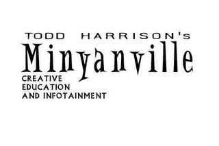 mark for TODD HARRISON'S MINYANVILLE CREATIVE EDUCATION AND INFOTAINMENT, trademark #78457169