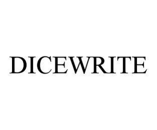 mark for DICEWRITE, trademark #78458313