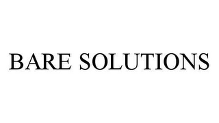 mark for BARE SOLUTIONS, trademark #78460275