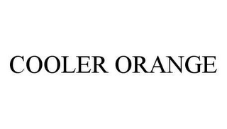 mark for COOLER ORANGE, trademark #78460329