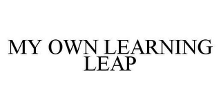 mark for MY OWN LEARNING LEAP, trademark #78460545