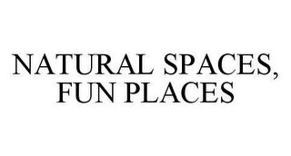 mark for NATURAL SPACES, FUN PLACES, trademark #78469228