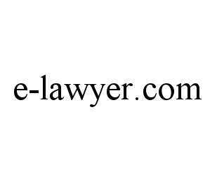 mark for E-LAWYER.COM, trademark #78469970