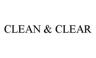 mark for CLEAN & CLEAR, trademark #78469986