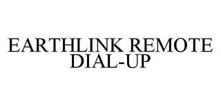 mark for EARTHLINK REMOTE DIAL-UP, trademark #78480129