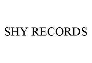 mark for SHY RECORDS, trademark #78480279