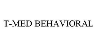 mark for T-MED BEHAVIORAL, trademark #78486422