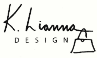 mark for K. LIANNA DESIGN, trademark #78487288