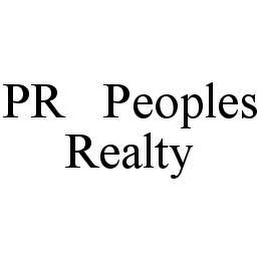mark for PR PEOPLES REALTY, trademark #78487619