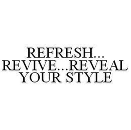 mark for REFRESH...REVIVE...REVEAL YOUR STYLE, trademark #78491476