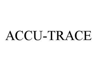 mark for ACCU-TRACE, trademark #78494811