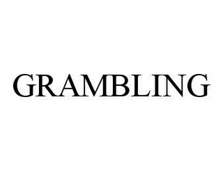 mark for GRAMBLING, trademark #78495186